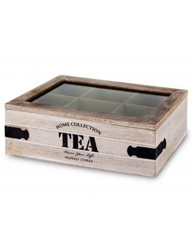 herbaciarka skrzyneczka na herbatę drewniana