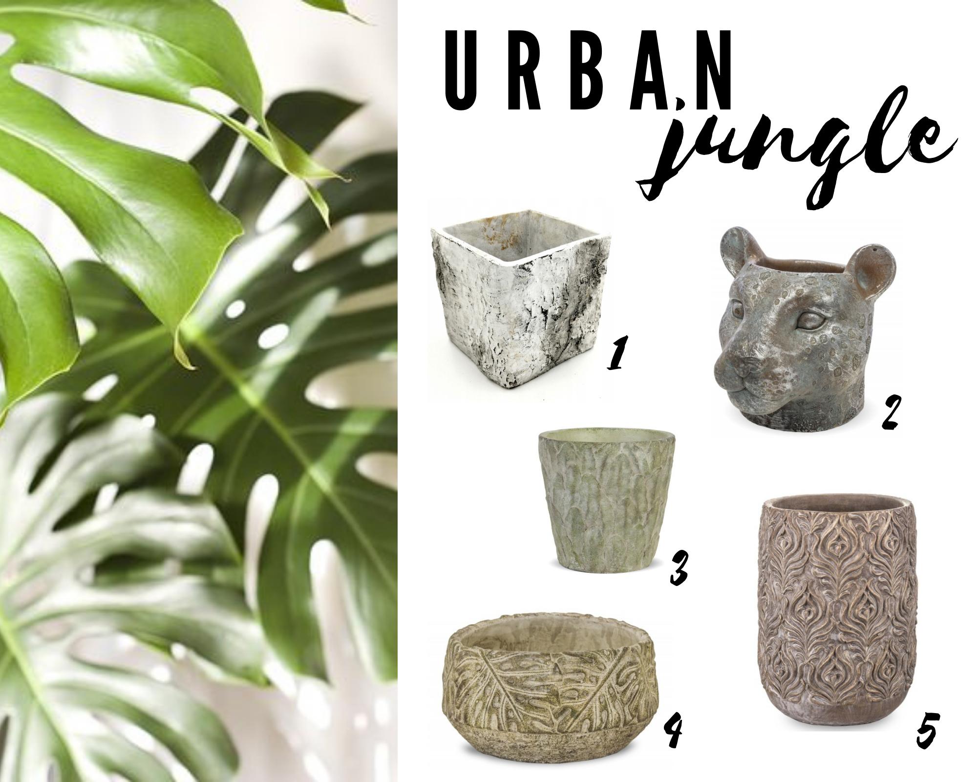 osłonki na doniczki styl urban jungle miejska dżungla